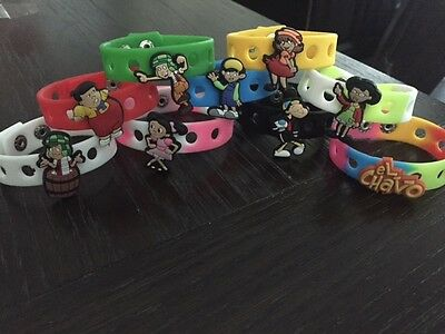 12 El Chavo Del 8 Ocho Charms Silicone Bracelets Birthday Party Favors Wristband