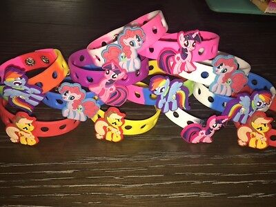 12 My Little Pony Ponies Charms Wristband Bracelets Birthday Party Favor