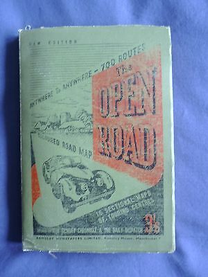 """Vintage/Retro """"The OPEN ROAD""""--16 Sectional Maps of Town Centres/whole UK map"""