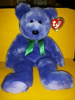 Ty Beanie Buddies Employee Bear Large 14 Inch Plush Stuffed Animal 2000