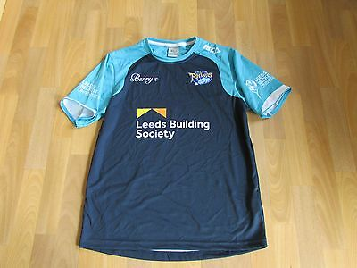 ISC LEEDS Rhinos Building Society RUGBY League Blue Shirt / Top ADULT Size L