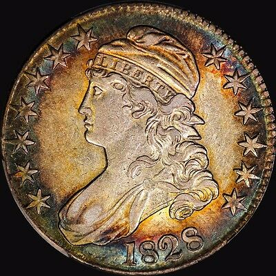 1828 Capped Bust Half Dollar Pcgs Au 50 Toned