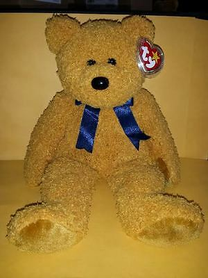 Ty Beanie Buddies Fuzz Bear Large 14 Inch Plush Stuffed Animal 1999