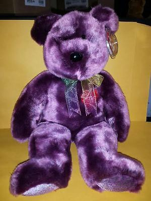 Ty Beanie Buddies 2000 Signature Bear Large 14 Inch Plush Stuffed Animal 1999