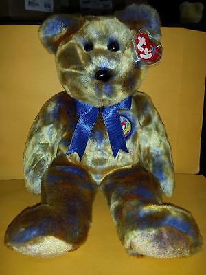 Ty Beanie Buddies Clubby Iii Bear Large 14 Inch Plush Stuffed Animal 2000