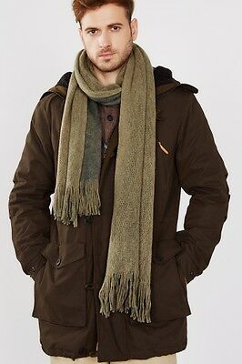 """NEW Esprit Mens """"""""Double-layer wool blend, loose knit scarf"""""""" CAMEL"""