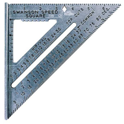 Square Speed Swanson 7 Inch Tool Aluminum Protractor Carpenter Imperial