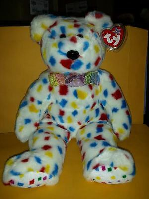 Ty Beanie Buddies Ty 2K Bear Large 14 Inch Plush Stuffed Animal 1999