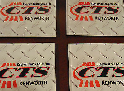 Kenworth Custom Truck Sales Inc 4 Glass Coasters