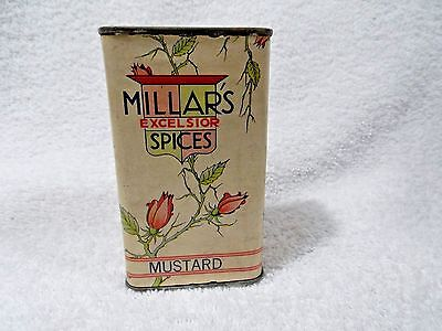 Vintage Collectible Advertising Spice Tin-Millar's Excelsior-Great Color/graphic