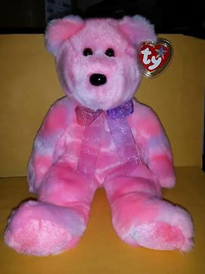 Ty Beanie Buddies Clubby 5Th Anniversary Edition Bear 14 Inch Plush 2002