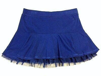 Justice Royal Blue Skort with Full Shorts Girls Size 16
