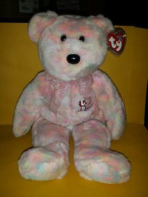 Ty Beanie Buddies Celebrate Bear 14 Inch Plush 2001