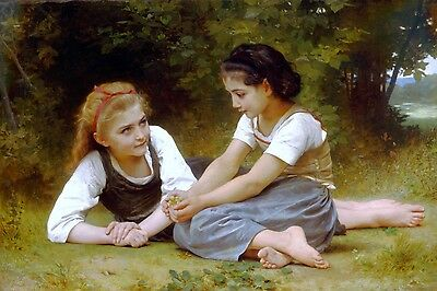 The Nut Gatherers Painting by William-Adolphe Bouguereau Art Reproduction