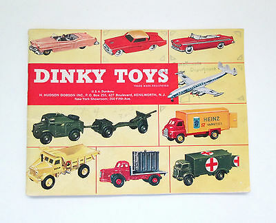 Dinky Toys Catalog USA 1957 Yellow Cover 36 Pages