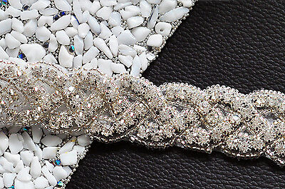 S216A Bridal Sash Belt Rhineston Crystal Bead Applique,Wedding Dress Accessories