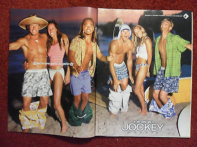 2000 Print Ad Jockey Men's Boxers Underwear Briefs ~ Partying Beach Surf Board
