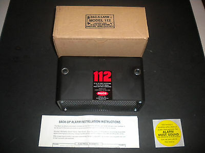 PRECO BAC-A-LARM 112 BACK-UP BEEPER 12 - 24 VDC Systems NOS
