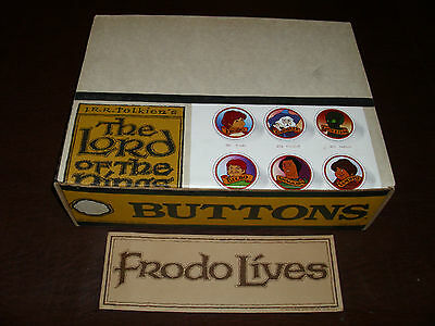 Vintage The Lord Of The Rings Button Store Display Full Hobbitt Rare MIMB 1978