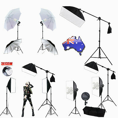 Photography Studio Continuous Lighting Softbox Boom Arm Soft Box Light Stand AU