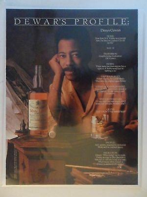 1992 Print Ad Dewar's Dewars Scotch Whiskey ~ Denys Cowan DC Comic Book Artist