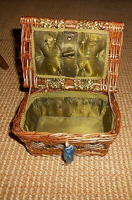 Antique Child's Sewing Basket Ca 1900