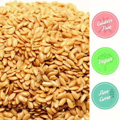 GOLDEN LINSEED Flax Gluten Free Premium NZ Grown Non-GMO BULK 1kg