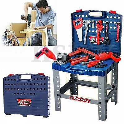 69Pcs Tool Box Foldable Work Bench With Repair Tools Set Kids Baby Role Play Toy
