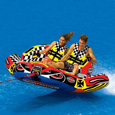 Sports Stuff Chariot Warbird 2 Towable WaterSki Tube Inflatable Biscuit Boat Rid