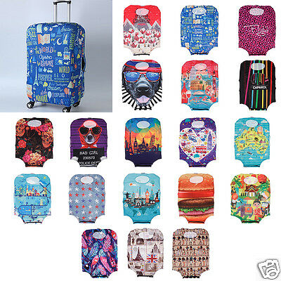 """Durable Cool S Size Elastic Travel Luggage Dust Cover Suitcase Protector 19""""-21"""""""