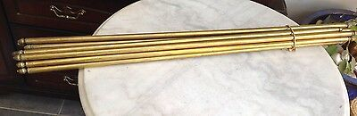 "14 X 31"" Victorian Brass Stair Rods With Acorn Finials NO BRACKETS"