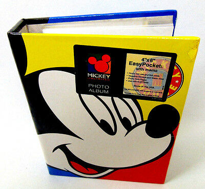 """New Disney MICKEY Mouse UNLIMITED 4"""" x 6"""" Easy Pockets 150 ct. Memo Photo Album"""