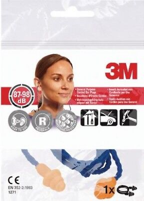 3M Corded Reusable Ear Plugs Noise Protection | Long Wear Comfort