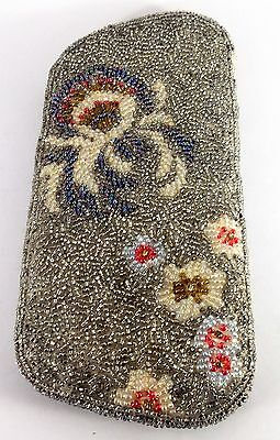 Antique Victorian hand beaded  eye glass case
