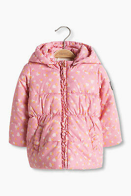 NEW Esprit Kids Padded thermal jacket with a heart print PINK