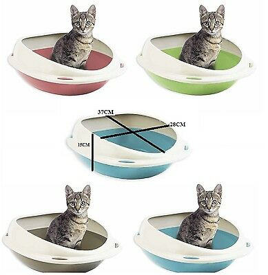 Plastic Cat Litter Shuttle Tray Ovel Dog Pet Kitten Toilet Training Seat New