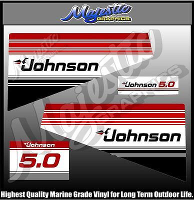 JOHNSON - 5.0 hp - DECAL SET - OUTBOARD  DECALS