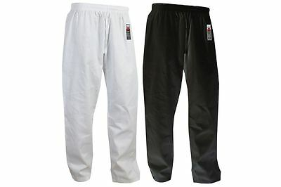 Karate Pants Adult Gi Trousers Cimac White Black Aikido Martial Arts Men Ladies