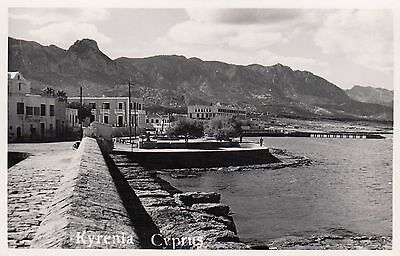 Kyrenia, Cyprus, Real photo, old postcard, unposted