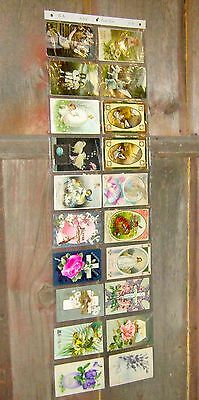 ANTIQUE LOT OF 30 EARLY 1900s EASTER POSTCARDS ~ POSTED, CANCELED, SOME UNUSED
