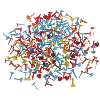 200 Split Pins Brads Paper Fasteners Scrapbooking With Random Color Selection