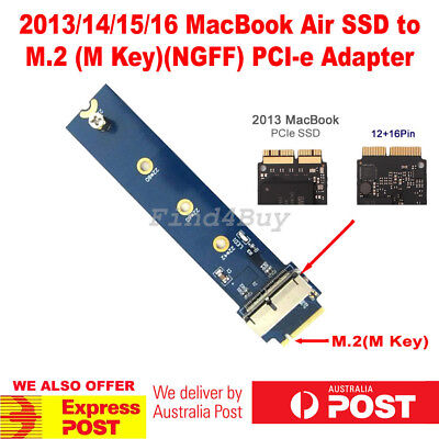 2013/14/15 MacBook Pro Air 12+16 Pins SSD to M.2 (NGFF) PCI-e Adapter Converter
