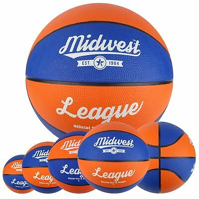 Midwest Orange & Blue League Basketball Indoor & Outdoor Ball Size 3, 5, 6, 7