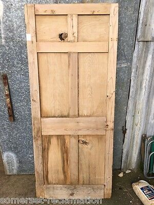 "31 1/2x75 1/4"" Short Reclaimed Victorian Stripped Pine 6 Panel 2over2over2 Door"