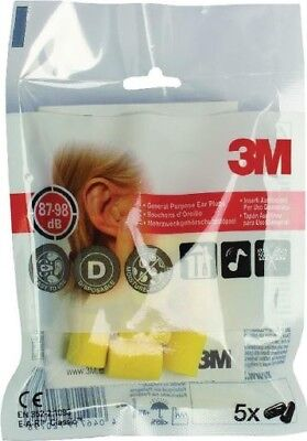 3M E-A-R Classic Extra Soft Ear Plugs Uncorded Comfortable Fit | Hi-Vis Yellow