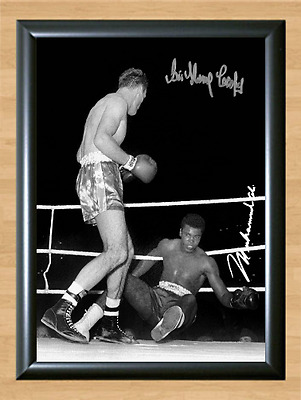 Sir Henry Cooper Muhammad Ali 1963 Signed Autographed Print Photo Poster knock