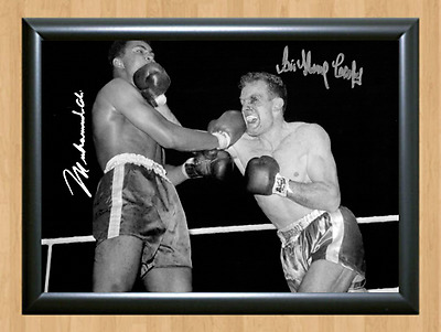 Sir Henry Cooper Muhammad Ali 1963 Signed Autographed Print Photo Poster punch 2