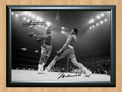 Muhammad Ali Dodging Joe Frazier Butterfly Signed Autographed Print Photo Poster