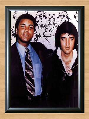Muhammad Ali and Elvis Presley Signed Autographed Print Photo Poster studio pose
