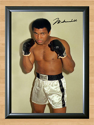 Muhammad Ali Pose Signed Autographed Print Photo Poster Alli Mohammad Gloves
